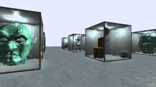 Unity 3D - Portal Room Cubes via Stencil Buffer
