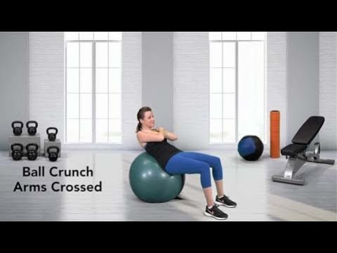 Crunch (on stability ball, arms crossed)