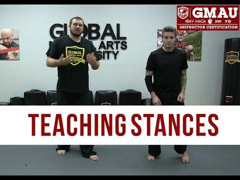 Krav Maga Instructor Course - Teaching Stances - YouTube