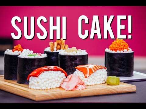 Download How To Make SUSHI CAKE! Chocolate Jelly Roll Sponge, Ginger Infused Buttercream & Candy Toppings! HD Mp4 3GP Video and MP3
