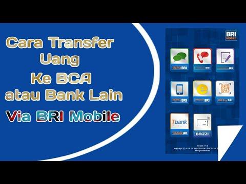 Cara transfer Uang Ke BCA atau Bank lain via BRI Mobile.