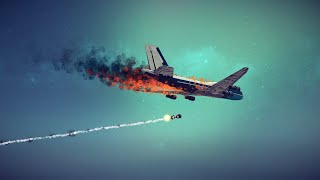 Boeing 747 Shot Down by Four Different Weapons | Besiege
