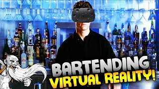 """Flairtender VR Gameplay - """"THE SALTY DONKEY COCKTAIL!!!"""" HTC Vive Virtual Reality Let's Play"""