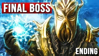 Skyrim - Miraak Boss Battle - Dragonborn DLC Ending!