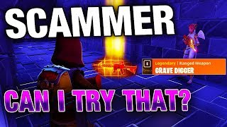 Letting a SCAMMER Try my Grave Digger! | Fortnite Save The World