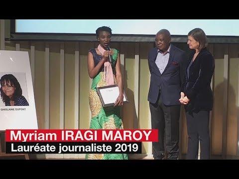 Myriam Iragi Maroy, winner of RFI's Dupont-Verlon award for journalism