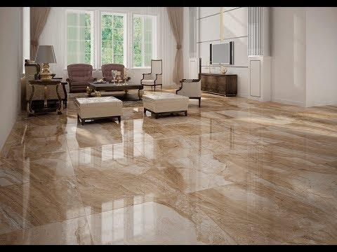Marble Floor Tile for Living Room Designs