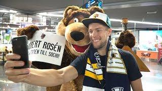 Welcome to Sochi: медведь с балалайкой встретил легионеров в аэропорту