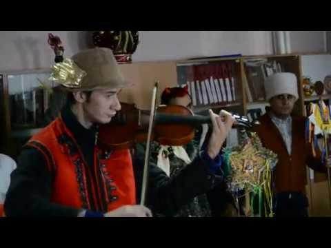 Молодежь поет колядки и щедривки в Николаеве