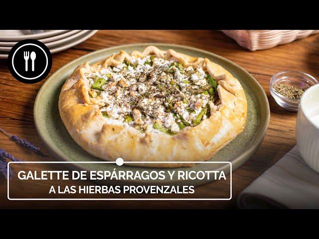 Cómo hacer GALETTE DE ESPÁRRAGOS Y RICOTTA