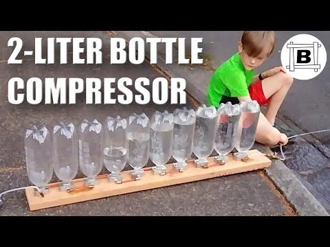 2 Liter Bottle Compressor (No Moving Parts)