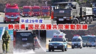 陸自特殊武器防護隊も参加!!平成29年度静岡県国民保護共同実動訓練2018.2.8