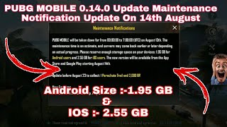pubg mobile 0-8-0 update maintenance notice - मुफ्त
