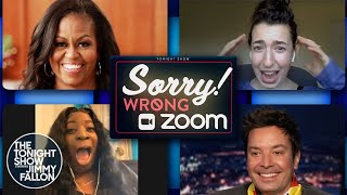 Michelle Obama and Jimmy Crash Random Zoom Meetings   The Tonight Show Starring Jimmy Fallon