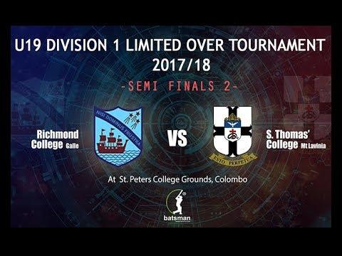 U19 Division 1 Limited Over Tournament - 2017/18 - Semi Finals 2