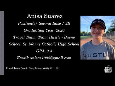 Anisa Suarez Softball Skills Video - 2020 2B 3B