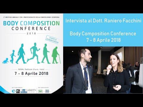 L'intervista al Dottor Raniero Facchini durante la Body Composition Conference del 2018
