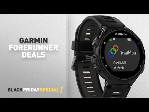 Black Friday Garmin Deals: Garmin Forerunner 735XT GPS Multisport and Running Watch - Black/Grey