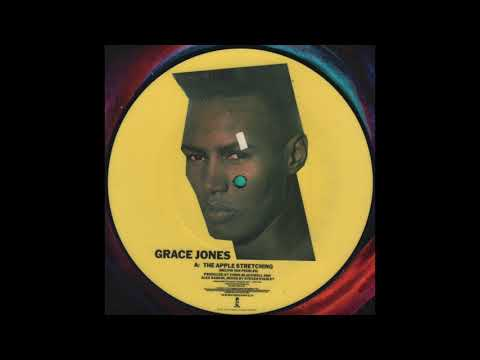 """Grace Jones – The Apple Stretching (1982) full 7"""" 45 RPM Picture Disc"""