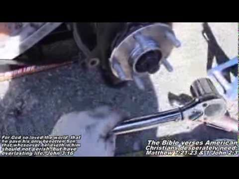 "Nissan Quest Wheel Hub Assembly ""How to"" Remove & Replace"