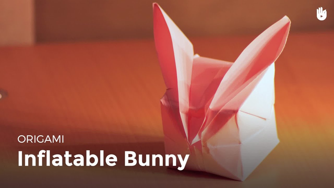 origami inflatable bunny learn how to make origami sikana