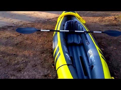 "Review Intex Explorer K2 Unpacking Kajak Kanu Schlauchboot (kein ""Excursion"") rubber boat"