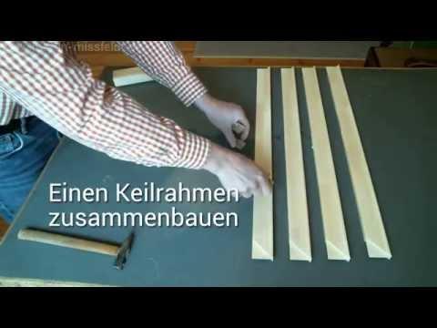 Keilrahmen selber bauen (Anleitung / Tutorial)