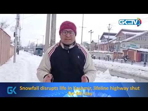 Snowfall disrupts life in Kashmir, lifeline highway shut for 4th day