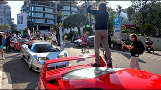 Guy Stands On His $1million Ferrari F40! [Monaco Supercar Insanity #10]