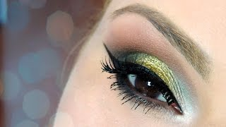 Christmas Makeup Tutorial - Make Dourada Natalina