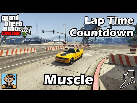 Fastest Muscle Cars (2017) - GTA 5 Best Fully Upgraded Cars Lap Time Countdown