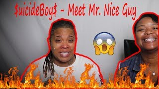 😱🔥 $UICIDEBOY$   MEET MR. NICEGUY (LYRICS) Reaction | J100 And Aunt