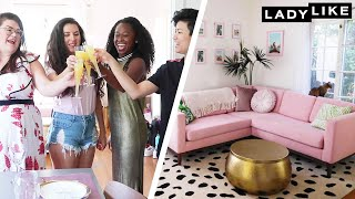 """I'm freaking out a little bit.""  Subscribe to Ladylike! https://bzfd.it/2Pg6etd  About LadyLike: Subscribe for your weekly dose of Freddie, Chantel, Devin, Kristin and Jen and all the antics that they get up to. Expect new videos three times a week. We are so excited to have you here!  Connect with LadyLike: Like us on Facebook: https://www.facebook.com/buzzfeedladylike/ Follow us on Instagram: https://www.instagram.com/buzzfeedladylike/ Buy our merch: https://goo.gl/2ny7st Get style tips, makeup advice, and must-have products with the As/Is Newsletter: https://www.buzzfeed.com/newsletters/style For business inquiries, email ladylikebusiness@buzzfeed.com  Credits: https://www.buzzfeed.com/bfmp/videos/87959 MUSIC Caribbean Flair_fullmix Licensed via Warner Chappell Production Music Inc. Let Me Go_NoVox Licensed via Warner Chappell Production Music Inc. Together_Full Licensed via Warner Chappell Production Music Inc. Energy_NoVox Licensed via Warner Chappell Production Music Inc. Sand Castle Pop_NoVox Licensed via Warner Chappell Production Music Inc. WAH WAH What_Full Licensed via Warner Chappell Production Music Inc. Ibiza Cocktail_Full Licensed via Warner Chappell Production Music Inc. LA Smooth_Full Licensed via Warner Chappell Production Music Inc.  Licensed via Audio Network SFX Provided By AudioBlocks (https://www.audioblocks.com)  STILLS Classic American apple pie. Lesyy/Getty Images Transparent vector glass with Martini and olive juliaart/Getty Images  VIDEO Real orange clean flame background filmed in super slow motion Spencer_Whalen/Getty Images Particles gold glitter bokeh award dust abstract background loop xleviathanx/Getty Images Pink Heart Valentine's Day  pattern pop up from bottom left corner animation 4K on white background paitoonpati/Getty Images Gold Curtain Chains Pitju/Getty Images   https://www.youtube.com/c/Ladylike"
