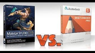 Manga Studio 5 EX VS Sketchbook Pro 7 - Review
