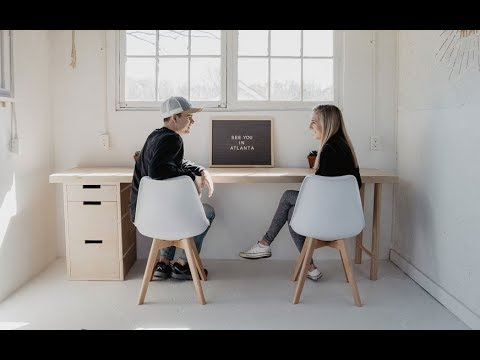 How to make a Plywood Desk with Minimal Tools   Easy Woodworking Project