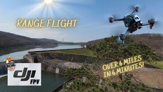 DJI FPV - RANGE FLIGHT IN SPORT MODE