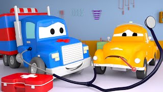 De Ambulance ⍟ Carl de Super Vrachtwagen in Autostad 🚚 Cartoons voor kinderen