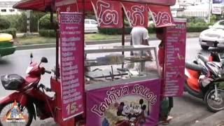 Motorcycle Food Cart - Thai Street Vendor Pancakes