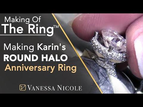 Pave Diamond Halo Ring