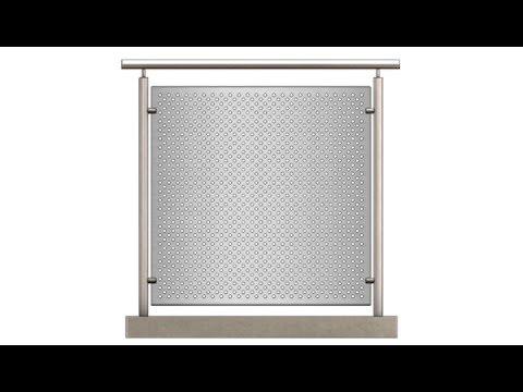 Montagevideo für Balkonverkleidung ohne vorhandene Halterung MDR Metallbau Onlineshop