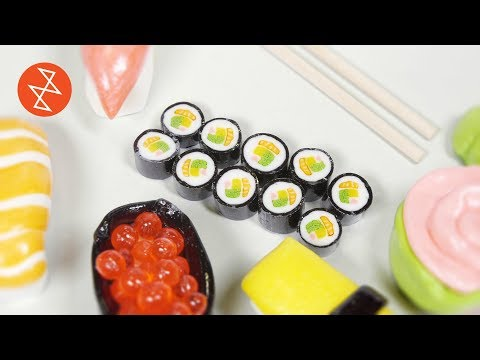 Artisan Confectioner Makes Candy Sushi Rolls in 60 FPS - Stereokroma