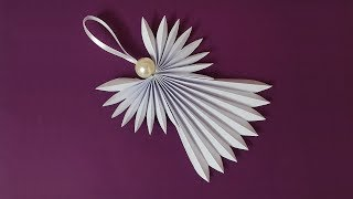 DIY Paper Christmas Angel | Engel Aus Papier Für Weihnachtsschmuck