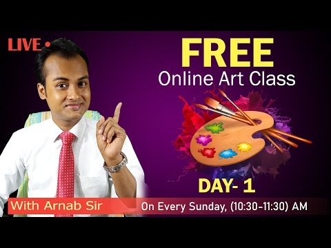 Free Online Class | Day 1 | Drawing Classes for Beginners | Arnab kumar Manna