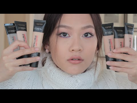 First Impressions & Review Loreal 24-Matte Infallible Foundation || KatherineKnows