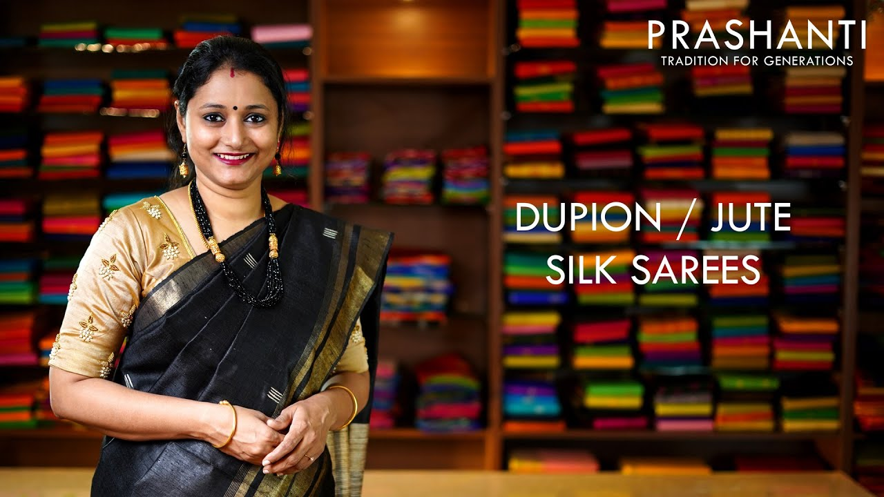 "<p style=""color: red"">Video : </p>Dupion Silk Sarees 