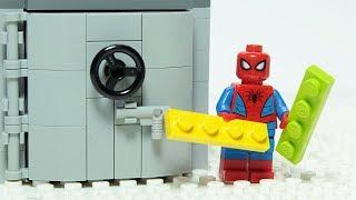 Lego Spiderman Brick Building Vault Animation For Kids