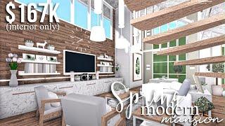 Spring Modern Mansion (part2-interior) | Roblox Bloxburg | GamingwithV