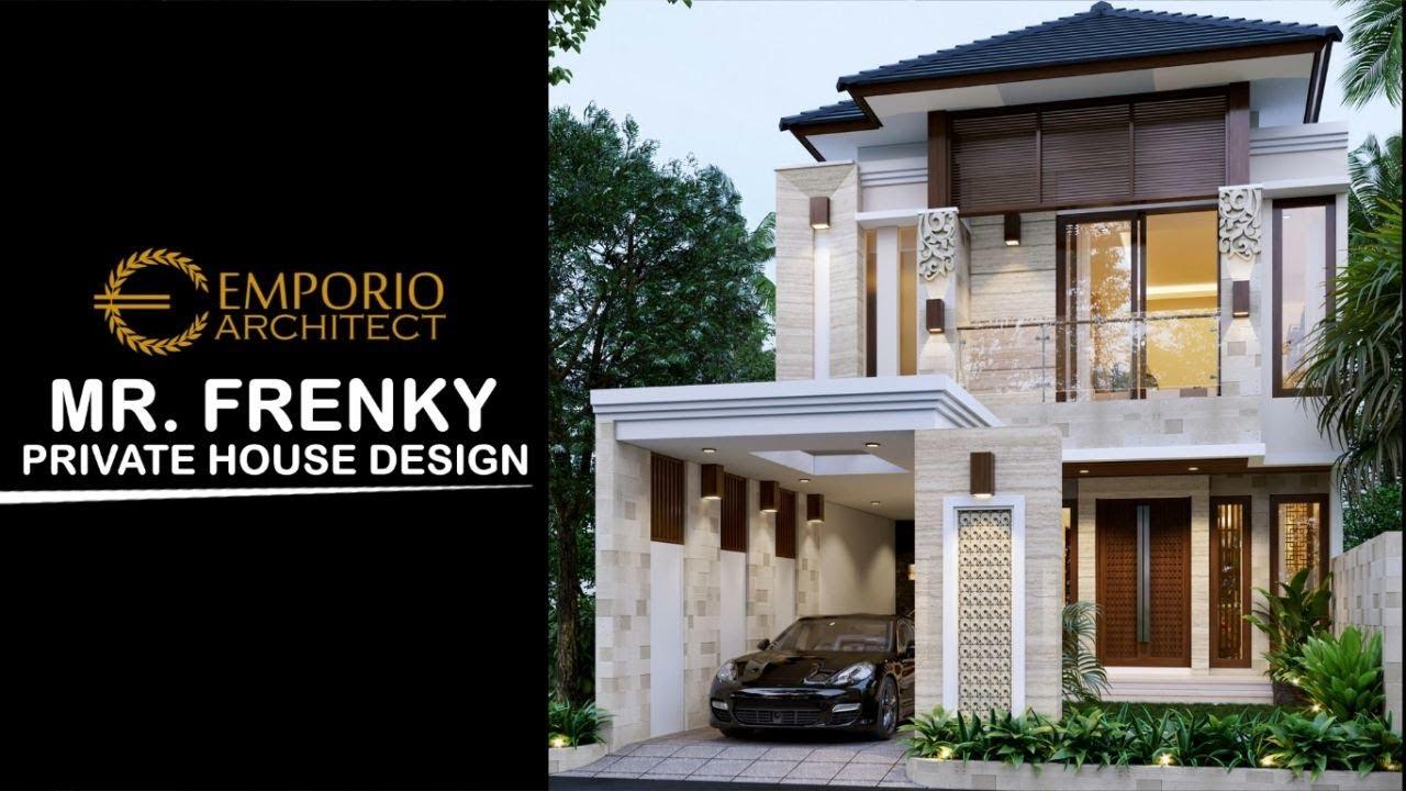 Video 3D Mr. Frenky Villa Bali House 2 Floors Design - Jakarta Timur