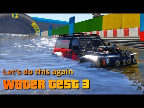 GTA V Water Resistance Test 3 | Best vehicle to cross water