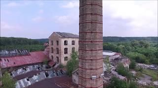 Urbex-Opuštěná budova-Cukrovar Dymokury dronem DJI Phantom 3 Advanced